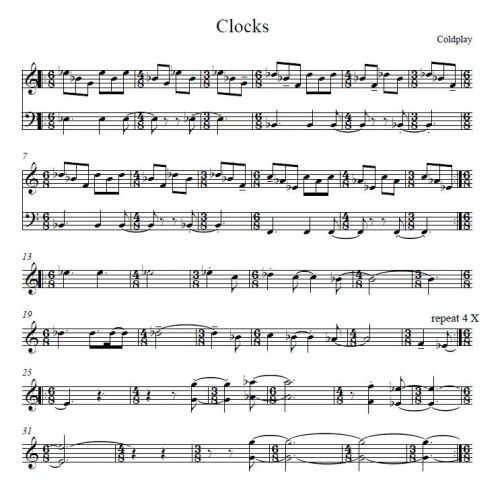 Clocks (Coldplay, arr. Fischbacher)